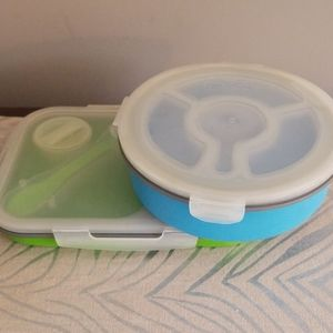 Silicone Divided Meal Kit and Salad Bowl Kit